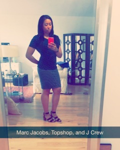 First day of school: Marc by Marc Jacobs top, Topshop Skirt and J Crew shoes
